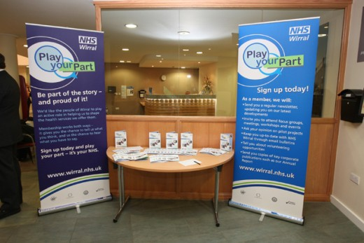 Nhs Wirral Reception Conference Display Dimensions